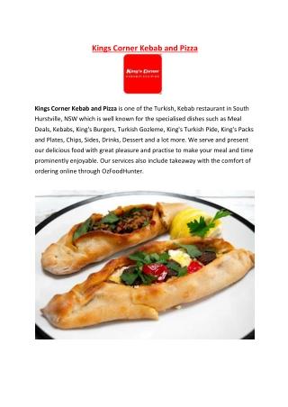 5% off - Kings Corner Kebab and Pizza Takeaway South Hurstville, NSW.