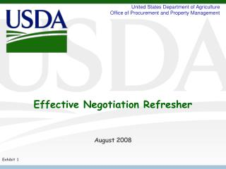 Effective Negotiation Refresher