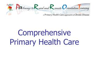 Comprehensive Primary Health Care