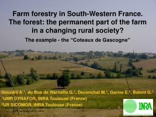 Farm forestry in South-Western France. The forest: the permanent part of the farm in a changing rural society? The examp