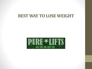 Best Way to Lose Weight