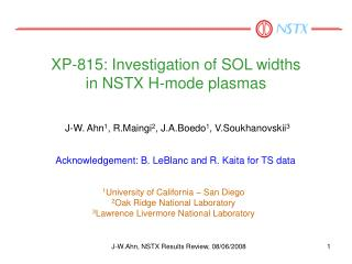 XP-815: Investigation of SOL widths  in NSTX H-mode plasmas