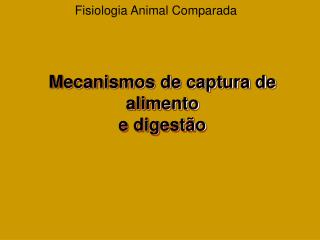 Fisiologia Animal Comparada
