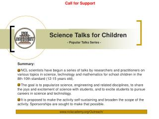 Science Talks for Children
