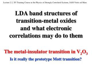 LDA band structures of transition-metal oxides