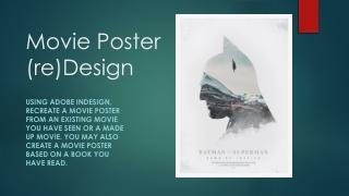 Movie Poster (re)Design