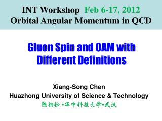 Gluon Spin and OAM with Different Definitions