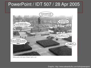 PowerPoint / IDT 507 / 28 Apr 2005