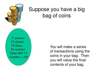 Suppose you have a big bag of coins