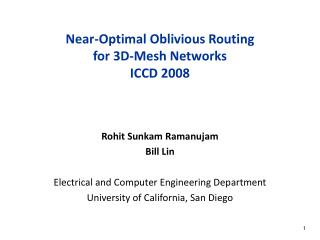 Near-Optimal Oblivious Routing for 3D-Mesh Networks   ICCD 2008