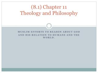 (8.1) Chapter 11  Theology and Philosophy