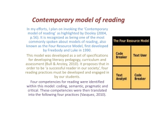 Contemporary Model of Reading