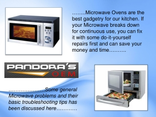 Microwave Problems and troubleshooting Tips