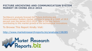Worldwide Picture Archiving and Communication System Market