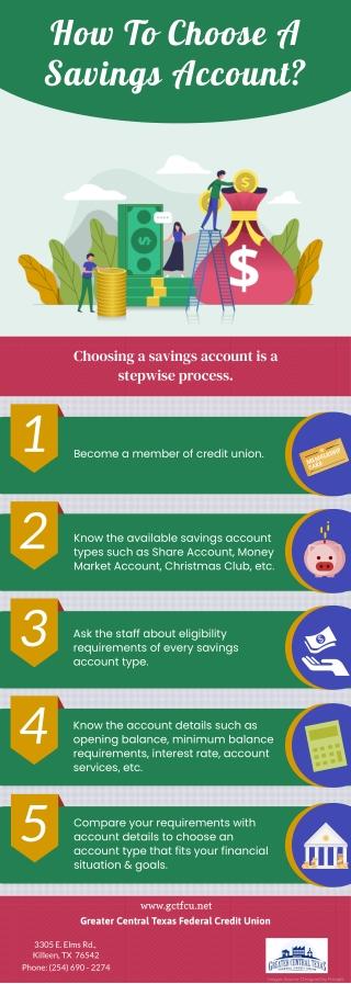 How To Choose A Savings Account?