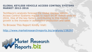 Worldwide Keyless Vehicle Access Control Systems Size And Sh