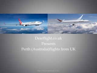 Cheap flights to Perth from UK