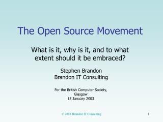 The Open Source Movement