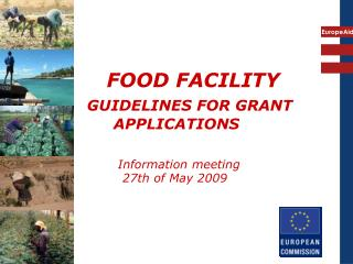 FOOD FACILITY GUIDELINES FOR GRANT   APPLICATIONS