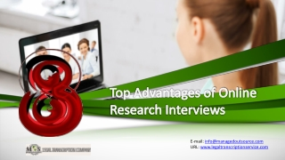 8 Top Advantages of Online Research Interviews