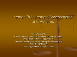 Yemen Procurement Assessments and Reforms