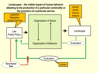 Organization of Space Organization of Behavior