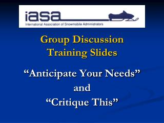 Group Discussion Training Slides