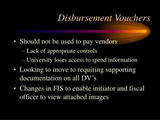 Disbursement Vouchers