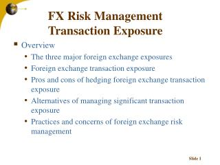 FX Risk Management Transaction Exposure