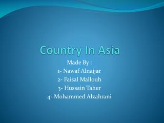 Country In Asia