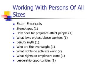 Working With Persons Of All Sizes