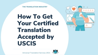 How To Get Your Certified Translation Accepted by USCIS
