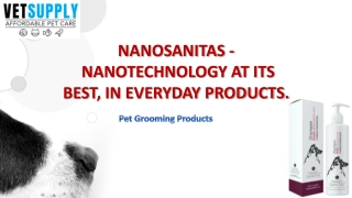NanoSanitas Shampoo and Conditioner for Dogs and Cats  Pet Grooming Care
