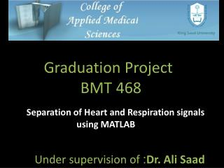 Separation of Heart and Respiration signals using MATLAB