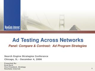 Ad Testing Across Networks