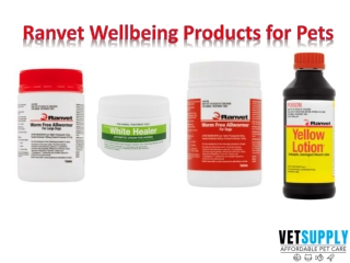 Ranvet Wellbeing Products for Dogs and Cats  Pet Supplies   VetSupply