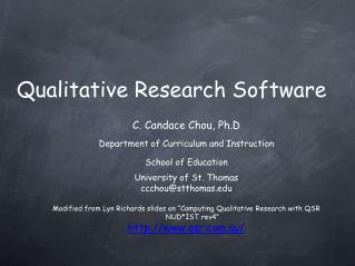 Qualitative Research Software