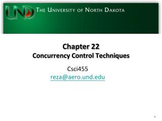 Chapter  22 Concurrency Control Techniques