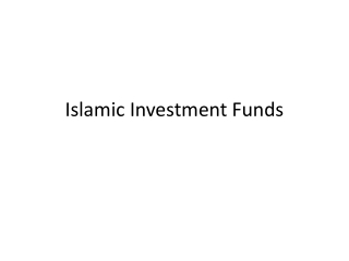 Islamic Investment Opportunities