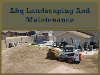 Abq Landscaping And Maintenance