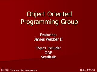 Object Oriented Programming Group