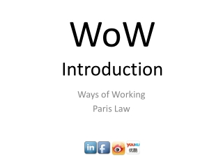 WoW Introduction