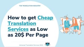 Cheap Translation Services