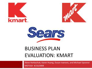 Business PLAN evaluation: Kmart