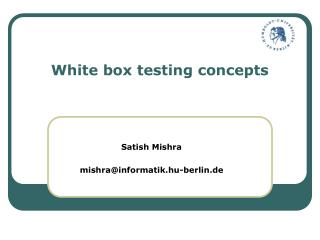 White box testing concepts