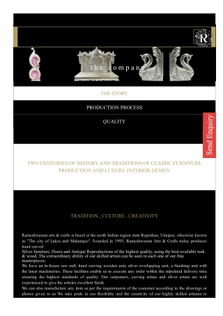 Carving Furniture- Rameshwaramarts
