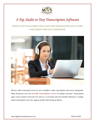 8 Top Audio to Text Transcription Software
