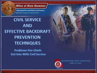 CIVIL SERVICE  AND  EFFECTIVE BACKDRAFT  PREVENTION TECHNIQUES
