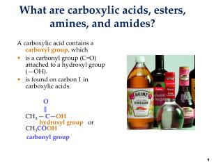 What are carboxylic acids, esters, amines, and amides?