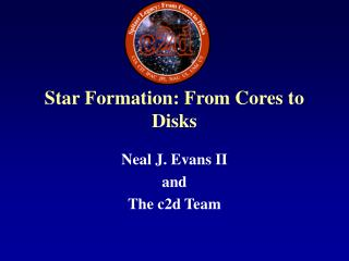 Star Formation: From Cores to Disks